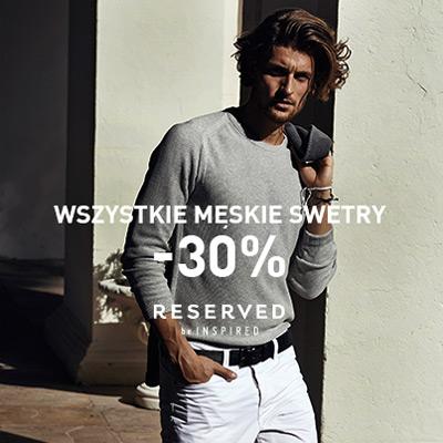 Swetry męskie 30% taniej w Reserved | aktualnerabaty.pl