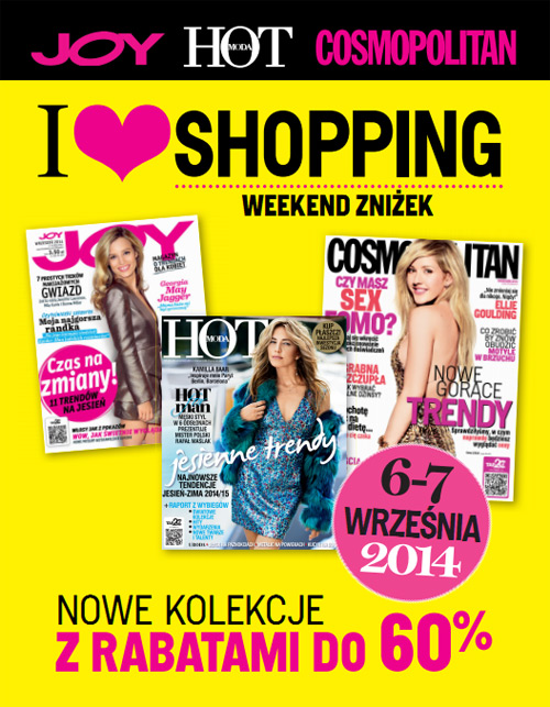 Weekend zniżek JOY, COSMOPOLITAN I HOT MODA