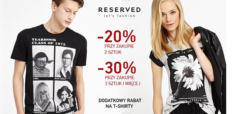 Rabat na t-shirt w Reserved