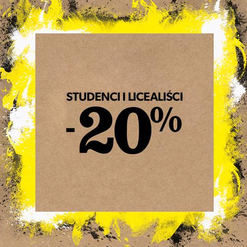 New Look 20% zniżka dla studenów i licealistów