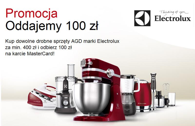 Zwrot 100 zł za zakup AGD Electrolux