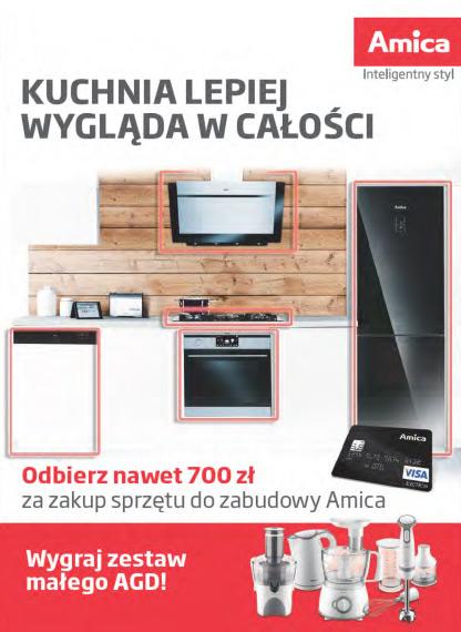 Amica zwrot do 700 zł za zakup sprzętu do zabudowy