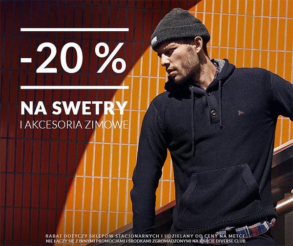 Swetry 20% taniej w Diverse
