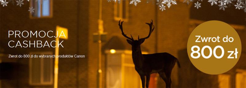 Winter Canon Cashback 2014 – zwrot gotówki do 800 zł