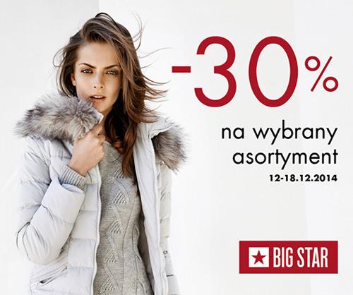 Big Star 30% rabatu