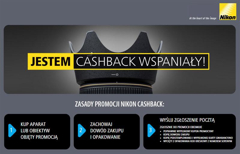 Nikon Cashvack zwrot gotówki do 2100 zł