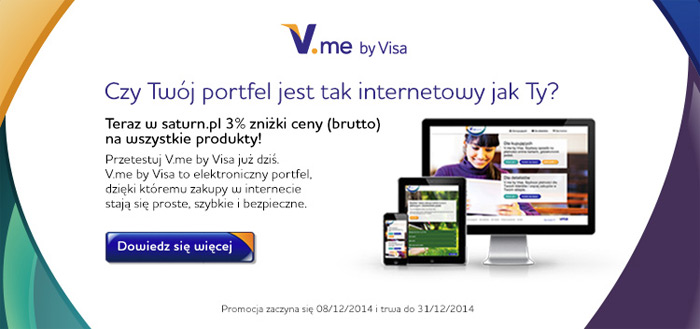 V.me by Visa rabat 3% w Saturn i Media Markt