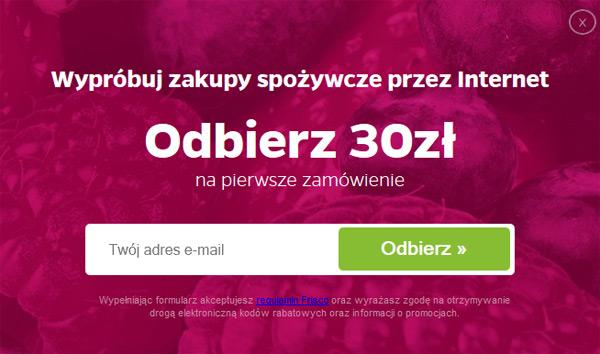 Frisco kupon rabatowy 30 zł