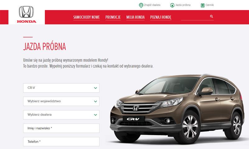 Jazda próbna Honda – umów się na jazdę