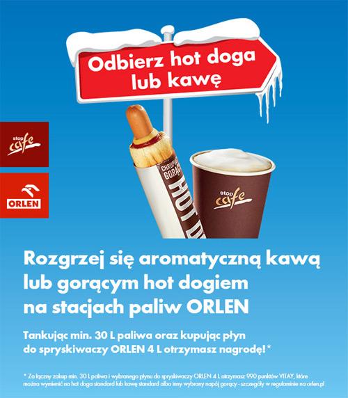 Kawa lub hot dog za darmo na Orlen