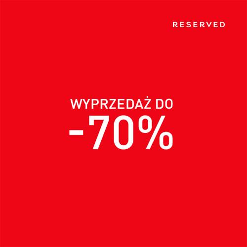 Zimowa wyprzedaż RESERVED do 70%