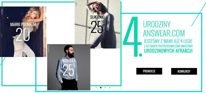 4 urodziny answear.com – promocje urodzinowe
