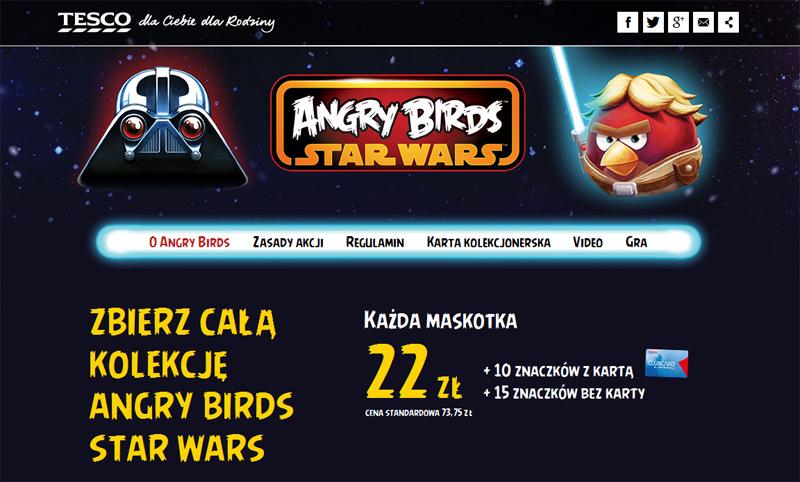 Maskotki Angry Birds Star Wars w Tesco za naklejki