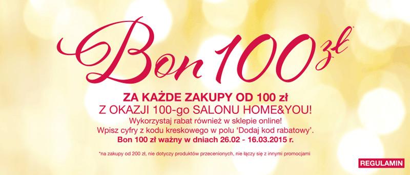 Bon 100 zł w home&you za każde wydane 100 zł