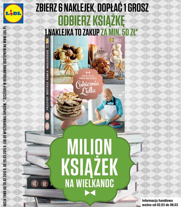 Milion książek na Wielkanoc – Cukiernia Lidla Pawła Małeckiego