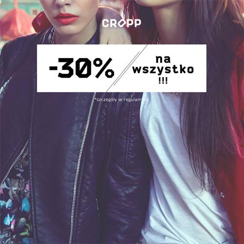 Cropp rabat 30% na wszystko – marzec 2015