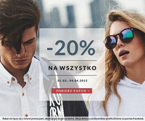 Diverse kupon rabatowy 20% (kwiecień 2015)