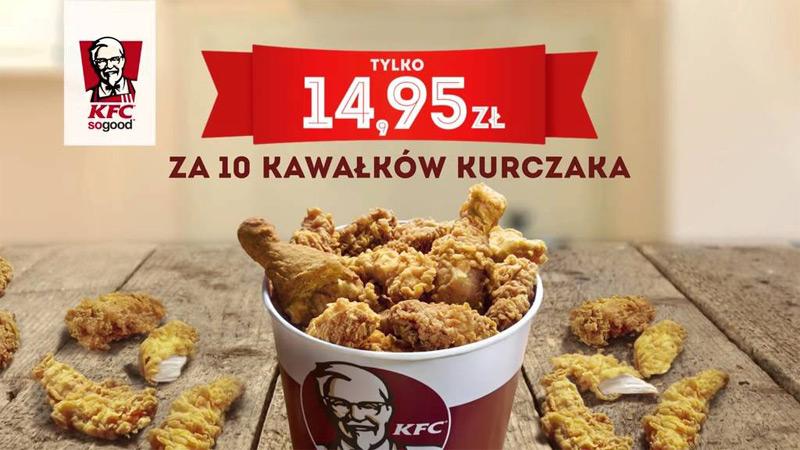 KFC promocja – kubełek we wtorki za 14,95 zł