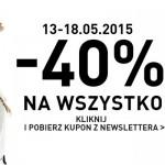 Kupon rabatowy RESERVED 40% – maj 2015