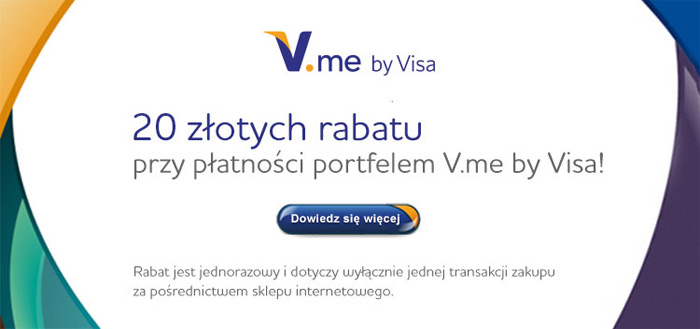 Saturn rabat 20 zł z V.me by Visa