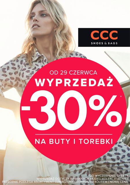 CCC wyprzedaż lato 2015 -30%
