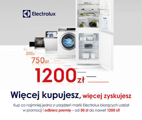 Electrolux – odbierz premię od 50 do 1200 zł