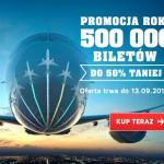 Promocja LOT – 500 000 biletów do 50% taniej
