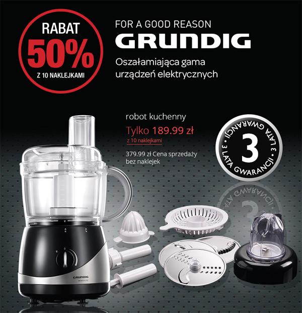 Promocja Grundig w Carrefour – rabat 50% za naklejki