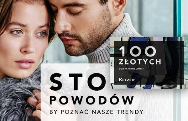 Kazar odbierz 100 zł w prezencie