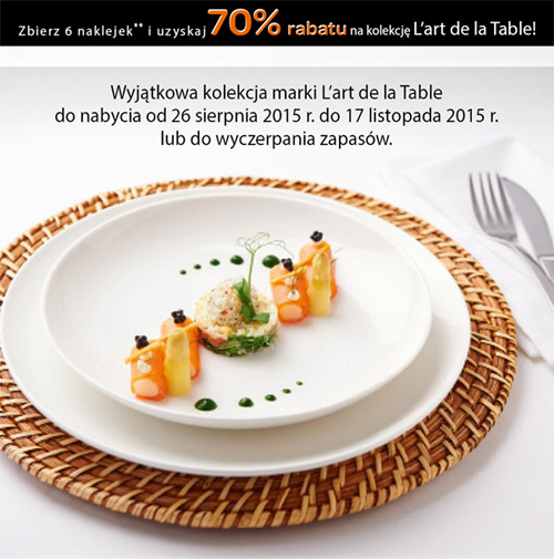 Porcelana L'art de la Table w Carrefour – rabat 70% za naklejki