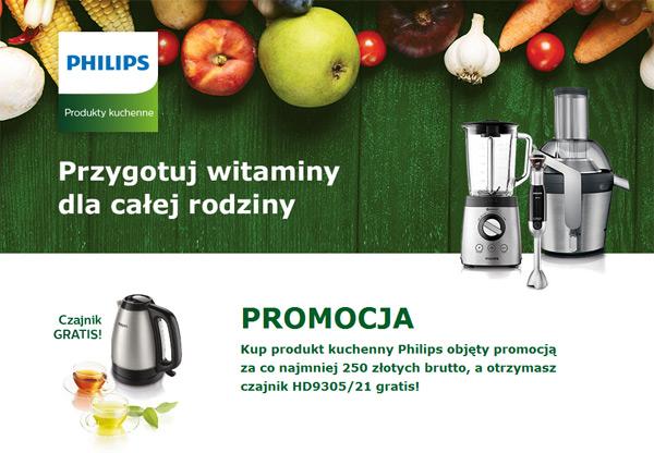 Czajnik Philips gratis