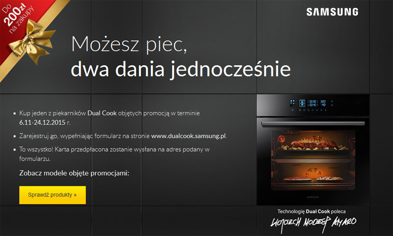 Świąteczna promocja na piekarniki Samsung (listopad-grudzień 2015)