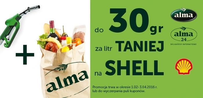 Rabat na paliwo Shell za zakupy w Alma