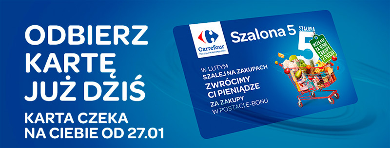 Szalona 5 Carrefour w lutym 2016