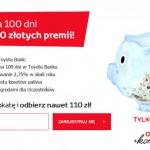 Tankuj korzyści z Toyota Bank – zgarnij premię do 110 zł
