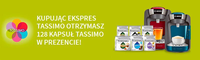 Kup ekspres Bosch Tassimo i odbierz 128 kapsułek gratis
