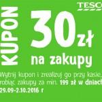 Kupon rabatowy Tesco 30 zł