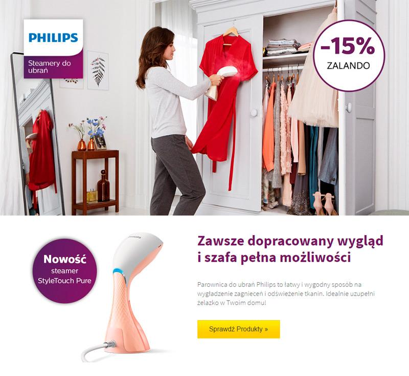Promocja na steamery do ubrań Philips