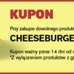 Cheesburger za darmo w McDonald's za wypełnienie ankiety