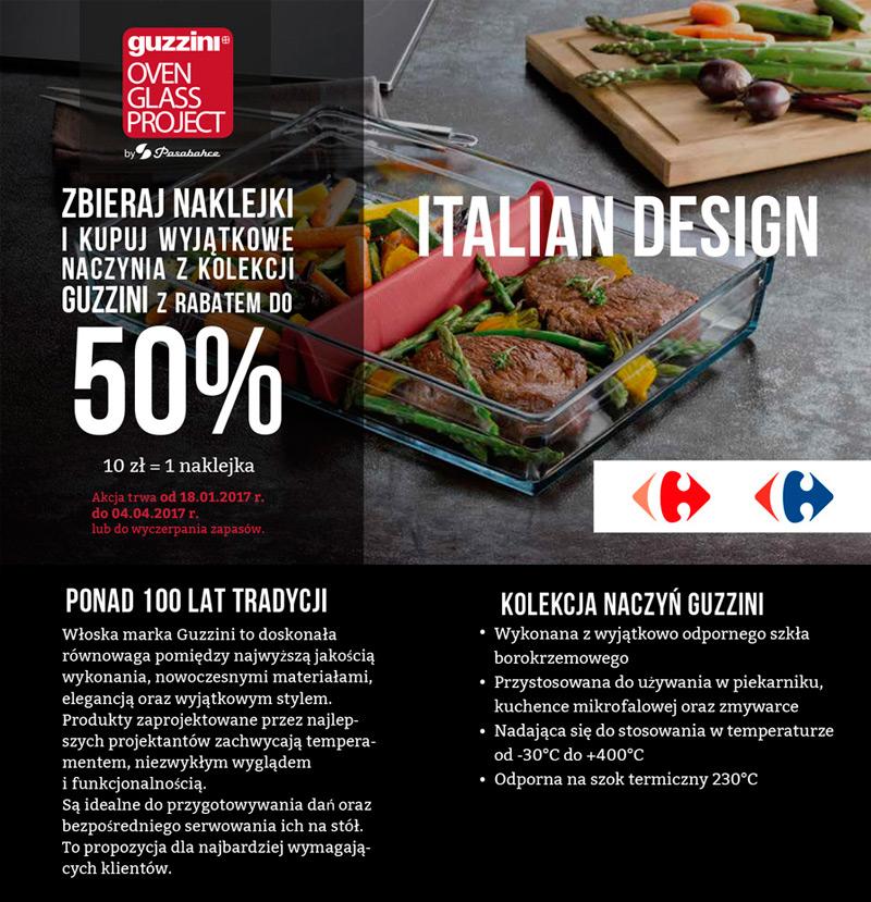Carrefour promocja Guzzini – rabat za naklejki