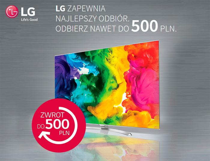 LG cashback – zwrot gotówki do 500 zł