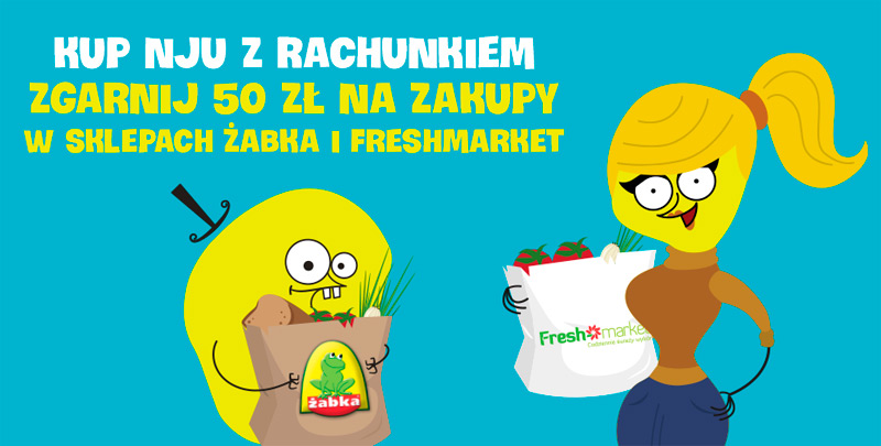 Promocja nju mobile i Żabka / Freshmarket