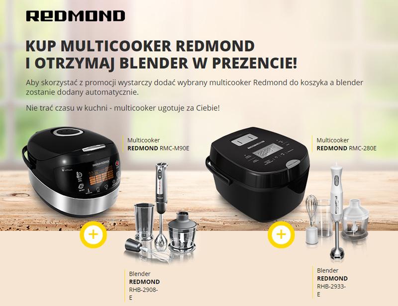 Blender gratis przy zakupie Multicookera Redmond