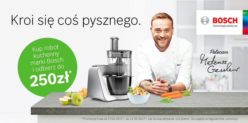 Premia do 250 zł za zakup robota kuchennego BOSCH