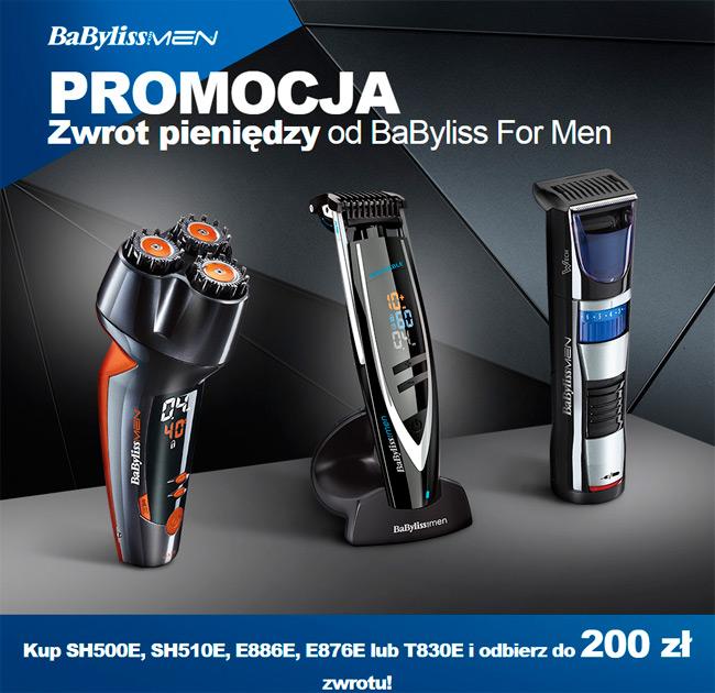 Babyliss for men – zwrot do 200 zł gotówki