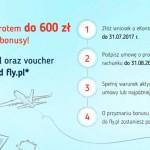 eKonto mBank ze zwrotem do 600 zł + 100 zł premii i bon do Fly.pl