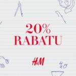 H&M rabat 20% na rok szkolny