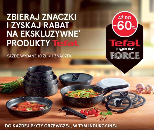 Rabat na produkty Tefal za znaczki w Tesco