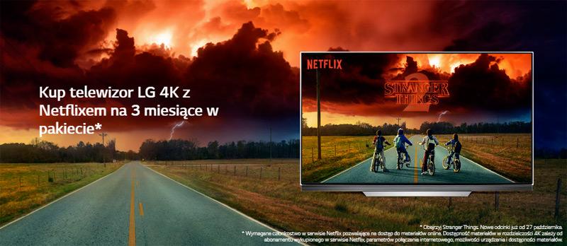 Promocja na telewizory LG – Netflix w prezencie