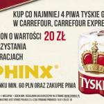 Promocja Tyskie w Carrefour: bon 20 zł do Sphinx